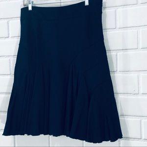 Odille-Anthropologie Navy Blue Skirt Flare  14